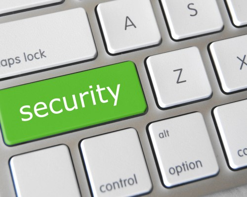 Security Key on Keyboard for Security Culture Post