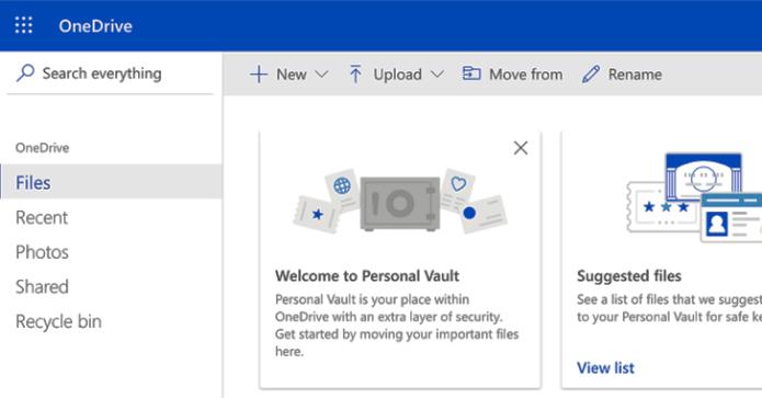 """Microsoft bổ sung tính năng """"Personal Vault"""" trong OneDrive"""