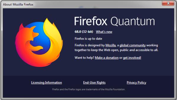 Mozilla phát hành Firefox 68