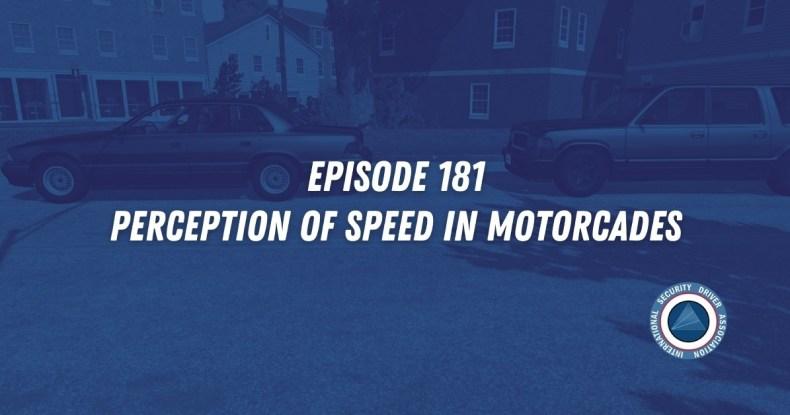Perception of Speed in a Motorcade