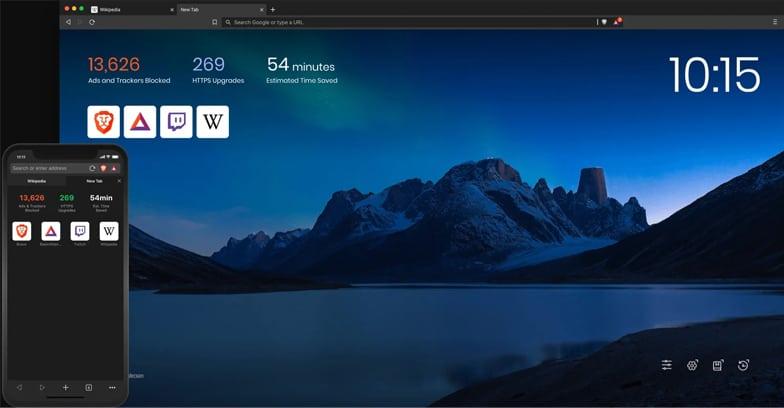 Brave browser desktop and mobile