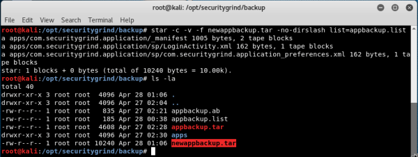 Exploiting Android backup  » Security Grind