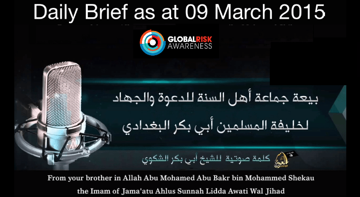 Daily Global Brief as at 09 Mar 15