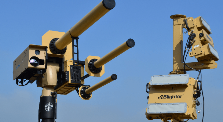 Counter drone Anti-UAV system unveiled by British trio