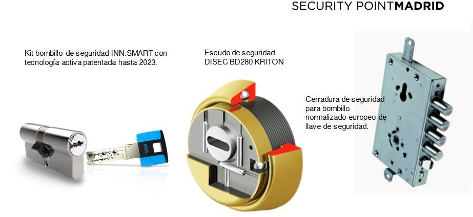 Kit de conversión de llave de borjas a llave de seguridad