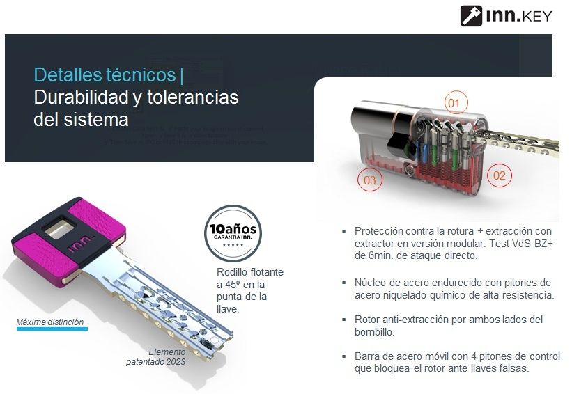 Bombillo anti bumping y llave de seguridad INN Madrid