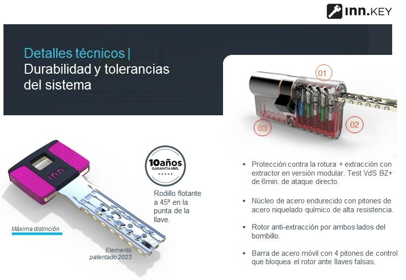 Bombillo anti bumping y llave de seguridad INN Madrid