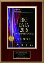 Eric Vanderburg - Big Data Influencer - February 2016