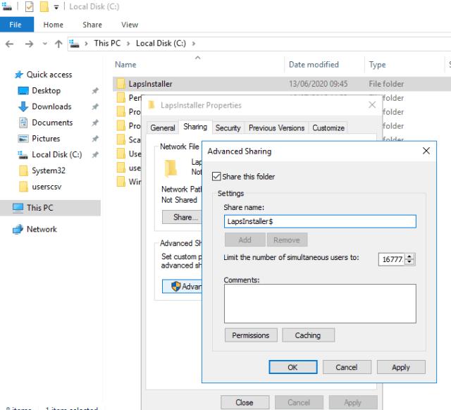 Laps installer share