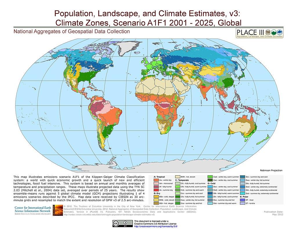 Maps Population Landscape And Climate Estimates Place