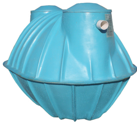 Fiberglass Septic Tank 350 Gallon Type 2comp Lg NA Wd 50 Ht 60 Inlet 44 Outlet 41
