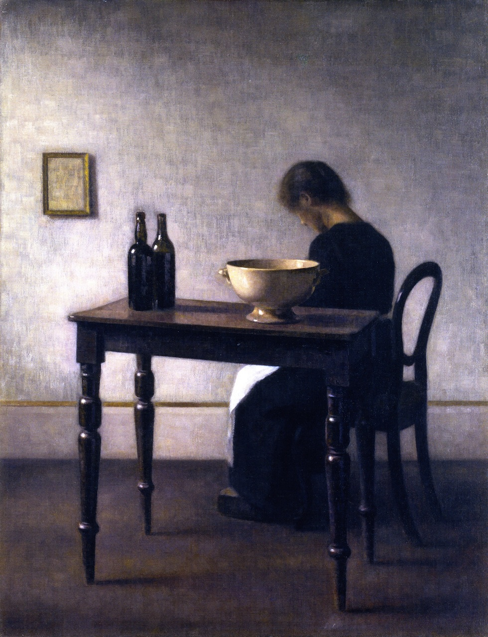 Vilhelm Hammershi painter 18641916  lunch at
