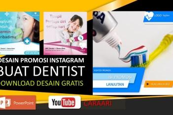 Desain Promosi Instagram Dentis Gigi Sehat Download Template PowerPoint Gratis