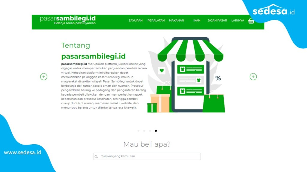 Pasar Sambilegi contoh Pasar Desa Online
