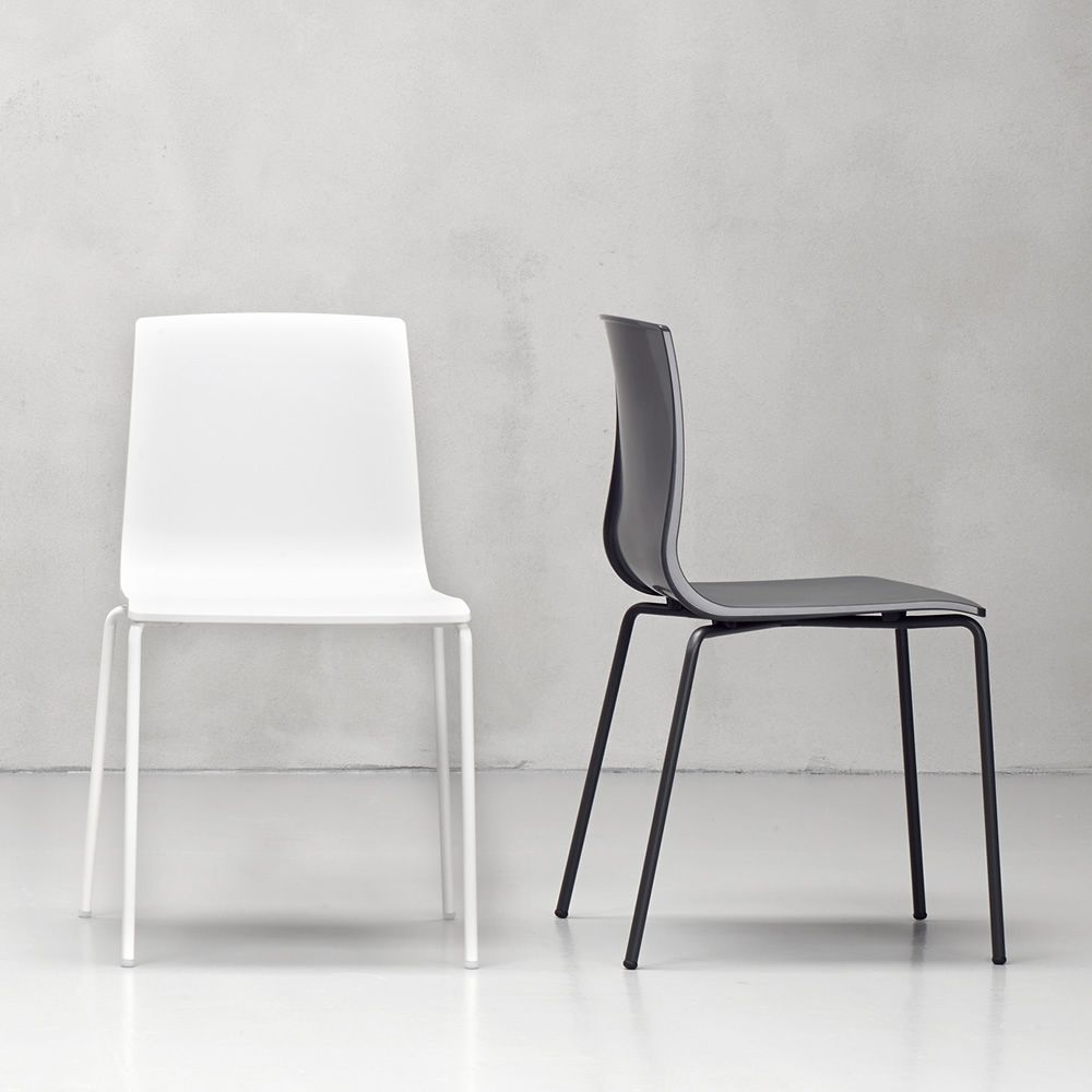 White Stackable Chairs Alice V Chair 2675