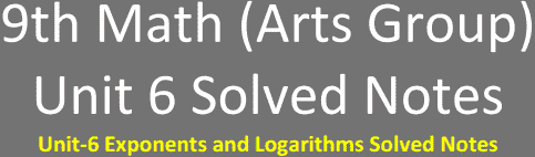 Unit6-9th-Math-Arts-Solved-Notes