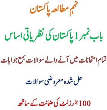 9th Class Pakistan Study BISE Chapter 1 Ideological Basis of Pakistan Notes