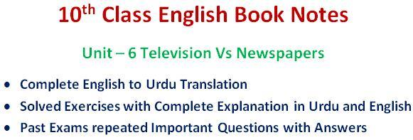 Download 10th Class English Notes Unit 6