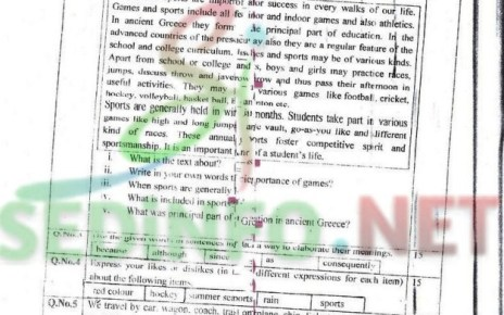 English 1 Code 207 Spring 2016 AIOU Past Papers