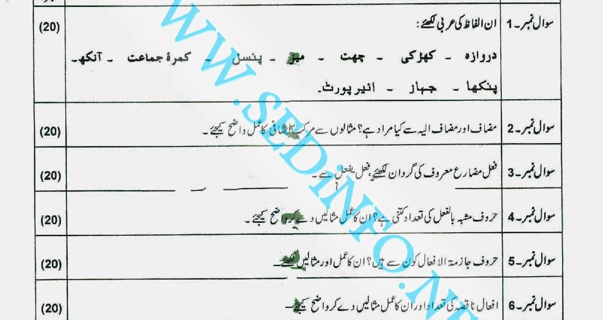 Matric-Code-246-AIOU-Past-Papers-Autumn-2011