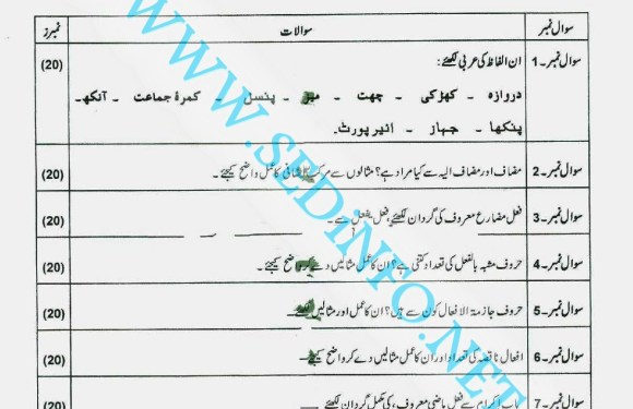 Code 246 Matric AIOU Past Papers A2011