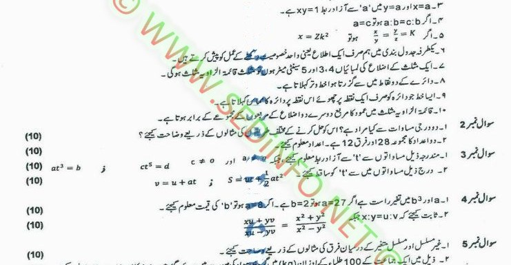 Code 248 Matric AIOU Past Papers S2013