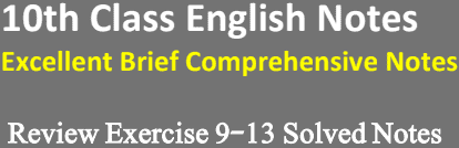 10th-English-Review-Exercise-9-13-Notes