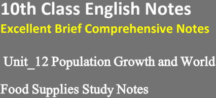 10th-English-Unit-12-Notes