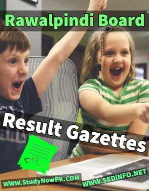 Download BISE Rawalpindi Results Gazettes 2018