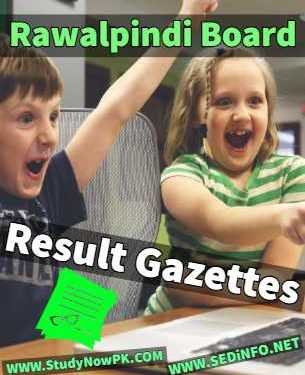 Download BISE Rawalpindi Gazettes All Results 2016