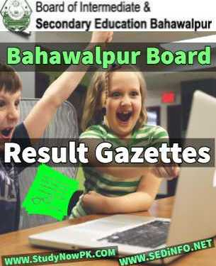 Download 12th Gazette Bahawalpur Board Result 2019