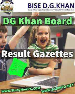 Download BISE DG Khan Results Gazettes 2018