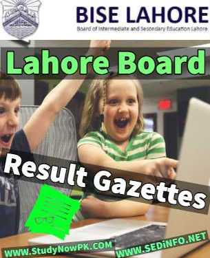 Download 12th Gazette Lahore Board Result 2019