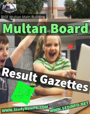 Download BISE Multan Results Gazettes