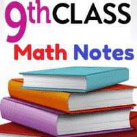9th Class Math Solved Notes Unit 4