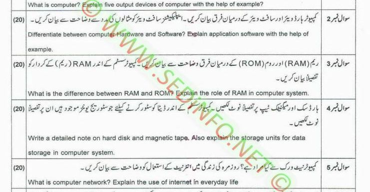 AIOU BEd Code 5403 Past Papers Autumn 2014