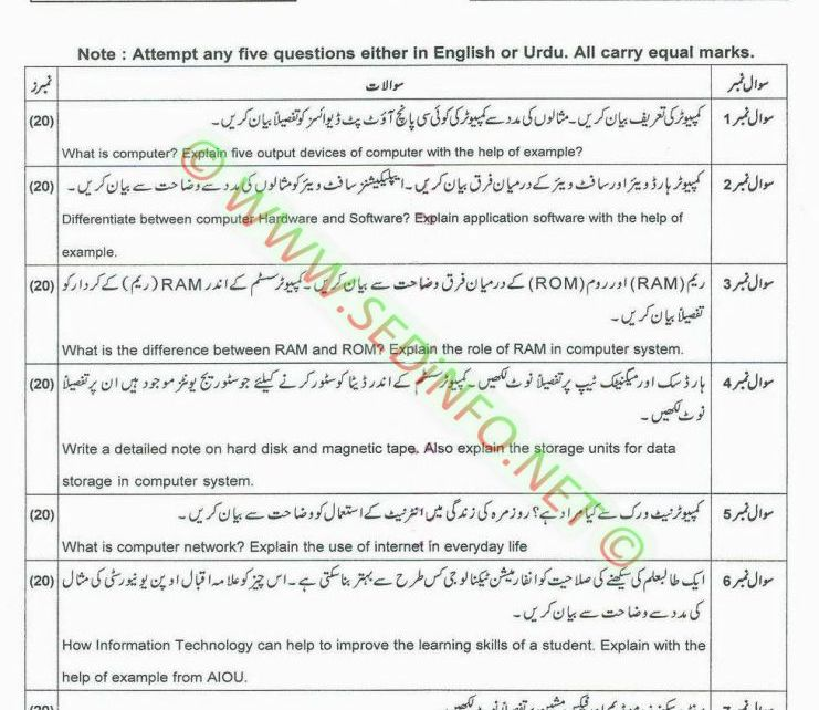 AIOU-BEd-Code-5403-Past-Papers-Autumn-2014