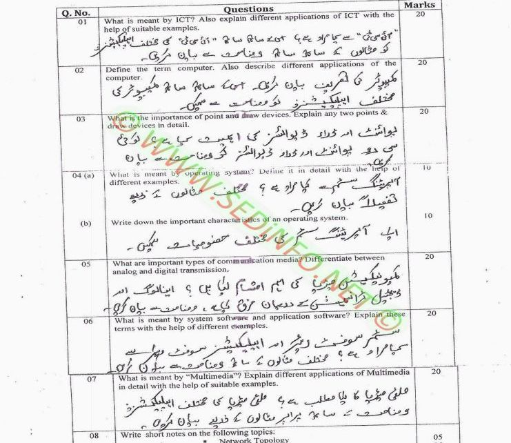 AIOU-BEd-Code-5403-Past-Papers-Spring-2014