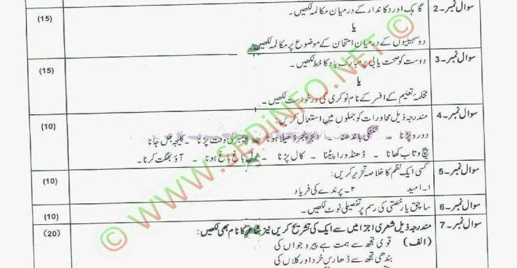 AIOU Matric Code 204 Past Papers Autumn 2011