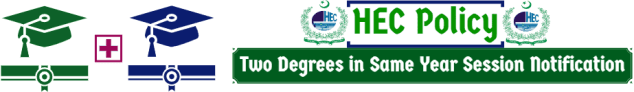 HEC Policy for Two Degrees in Same Year Session Notification