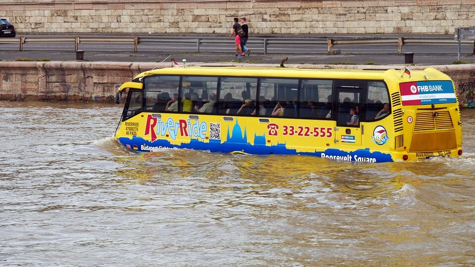 car inondé