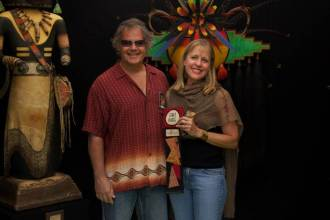 Mark and Karen Klay, 2-time Overall Best of Show Winners, take First Place in Mixed Media. Don't miss stopping by their booth.