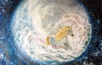 Racing Through the Stars by Celeste Korsholm