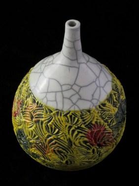 Ode To Autumn is textured raku art by Luke Metz in Sedona, Arizona
