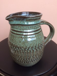Ken Barnes Ceramic Medium Green Pitcher