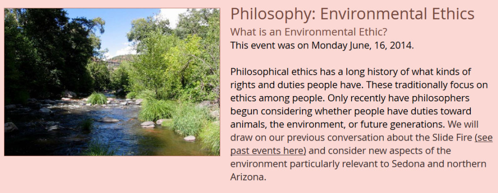 Philosophy - Environmental Ethics