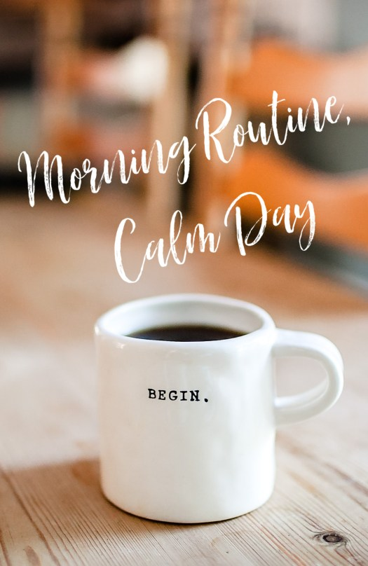 Your day doesn't have to be the hurry scurry mess it is right now. Here are suggestions for starting a morning routine to change your day, week and life!