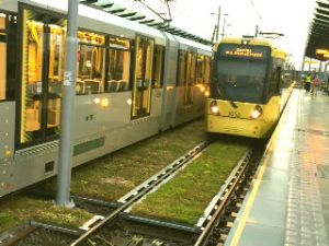 Sedum Mats around tram tracks in Manchester