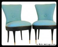Pair of vintage slipper chairs - Coppia poltroncine vintage da camera