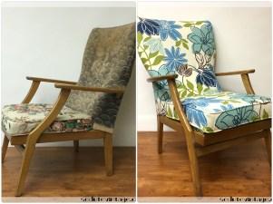 Poltroncina anni 50 floreale - Floral 1950s armchair